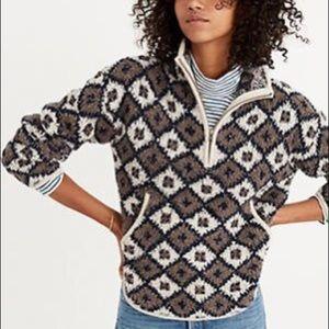 Madewell 1/4 zip popover sweatshirt SzM